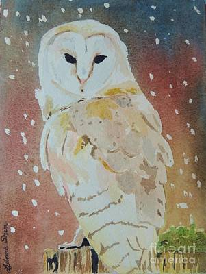 Painting - Barn Owl by LeAnne Sowa