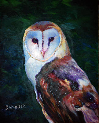Painting - Barn Owl Profile by Denise Wagner