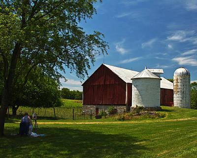 Barnstormer Photograph - Barn Painter by Guy Shultz