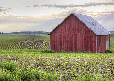 Barn Perspective Art Print by Kent Taylor