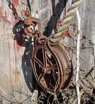 Barn Pulley Art Print
