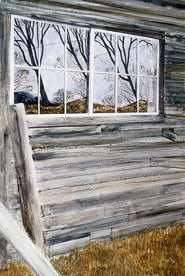 Barn Reflection Art Print by Karol Wyckoff