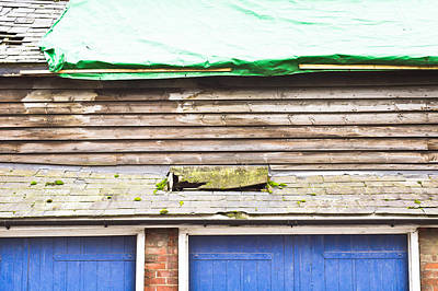 Shack Photograph - Barn Repairs by Tom Gowanlock