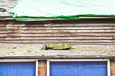 Barn Repairs Art Print by Tom Gowanlock