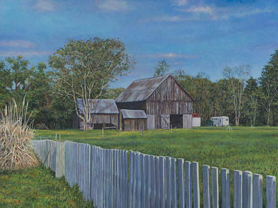 Painting - Barn Scene Near Newport Inn Md by David P Zippi