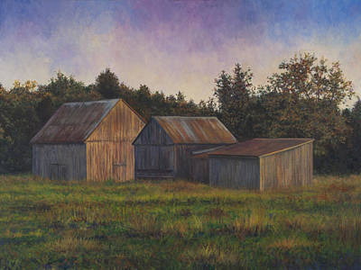 Painting - Barn Scene Off Of Rte. 6 In Dentsville Md by David P Zippi