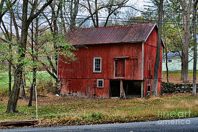 Old Country Roads Photograph - Barn - Seen Better Days by Paul Ward