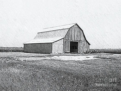 Photograph - Barn Sketch Effect 1 by Debbie Portwood