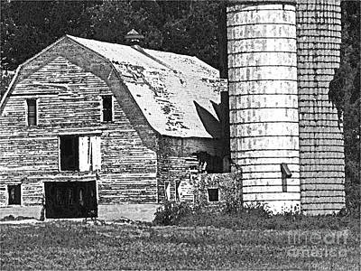 Photograph - Barn Sketch Effect IIi by Debbie Portwood