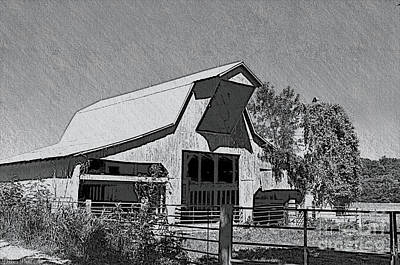Photograph - Barn Sketch Effect Iv by Debbie Portwood