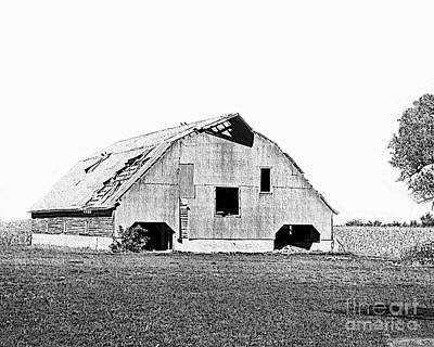 Photograph - Barn Sketch Effect V by Debbie Portwood