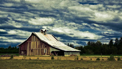 Barn Art Print by Steve McKinzie