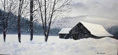 Barn Storm Art Print by Ken Ahlering