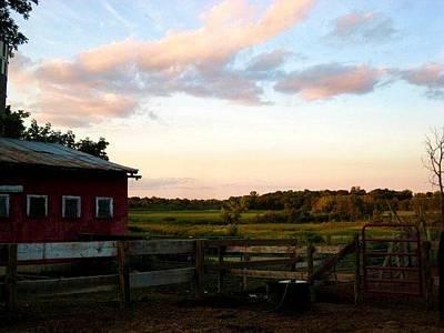 Photograph - Barn Sunset by Bridget Johnson
