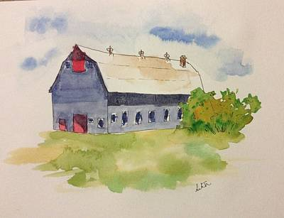 Painting - Barn by Suvitha Ramaswamy