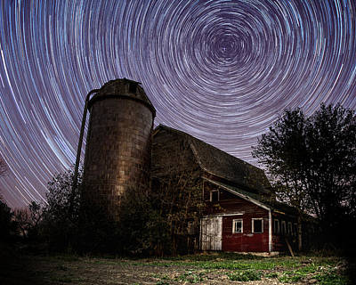 Photograph - Barn Trails by Aaron J Groen