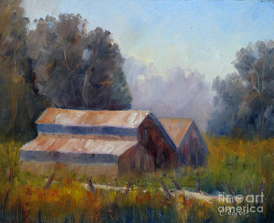Painting - Barn Trio by Carolyn Jarvis