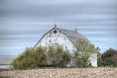 Photograph - Barn Under Stormy Skies by Deborah Smolinske