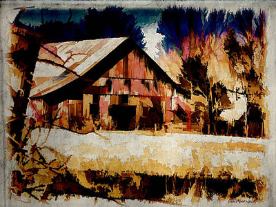 Photograph - Barn Watercolor by Ericamaxine Price