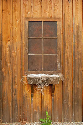 Photograph - Barn Window 3348 by Guy Whiteley
