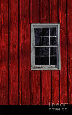 Photograph - Barn Window by Debra Fedchin