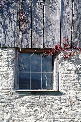 Photograph - Barn Window by Sheila Byers