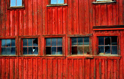 Photograph - Barn Windows by Mamie Gunning