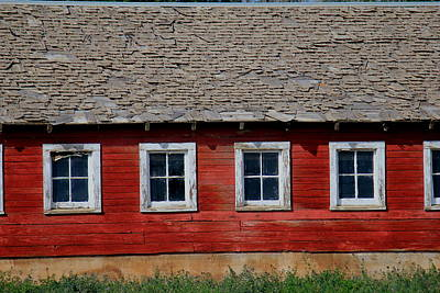 Photograph - Barn Windows by Trent Mallett
