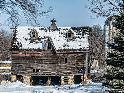 Country Scenes Photograph - Barn With Dormers by Paul Freidlund
