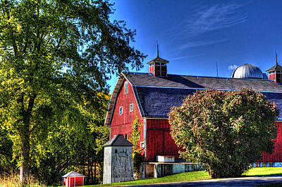 Photograph - Barn With Out-sheds Brunner Family Farm by Roger Passman