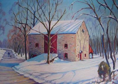 Barn With The Red Door Art Print