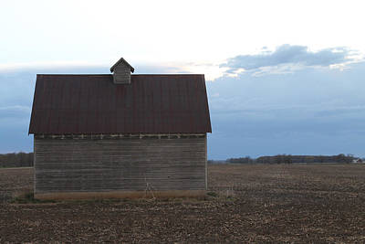 Photograph - Barn With Thunder Clouds by Annette Gendler