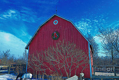 Photograph - Barn With Wreath by David Arment