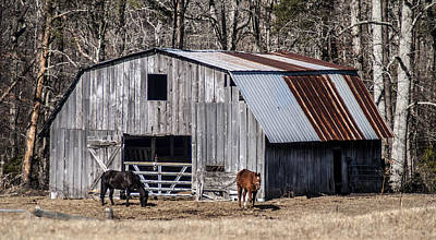 Photograph - Barn1 by Barry Cole