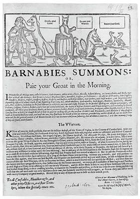 Barnabies Summons Art Print by British Library