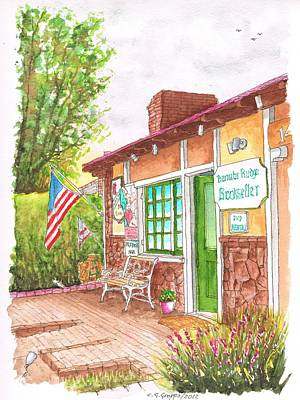 Laguna Beach Painting - Barnaby Rudge Bookstore In Laguna Beach - California by Carlos G Groppa