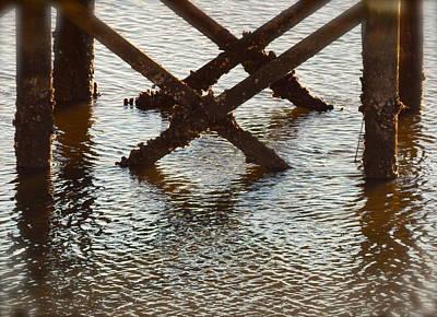 Barnacle Encrusted Pier Original by Terry Cobb
