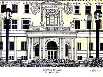 Drawing - Barnard College by Frederic Kohli
