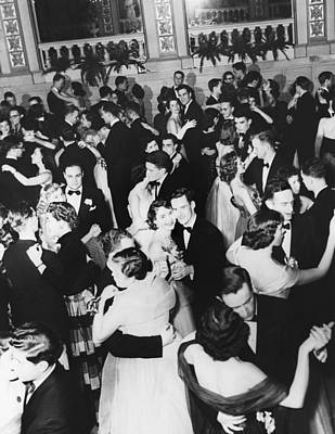 Black Tie Photograph - Barnard College Prom by Underwood Archives