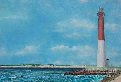 Painting - Barnegat Bay Lighthouse by Barbara Barber