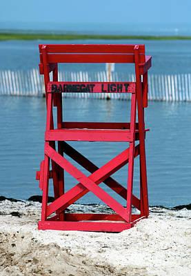 Barnegat Light Lifeguard Chair Art Print by John Rizzuto