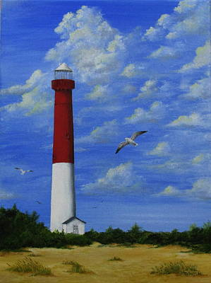 Painting - Barnegat Lighthouse by Catherine Howley