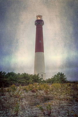 Mid Century Modern - Barnegat Lighthouse Dawn by Joan Carroll