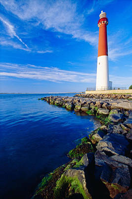 Barnegat Lighthouse Long Beach Island New Jersey Art Print by George Oze