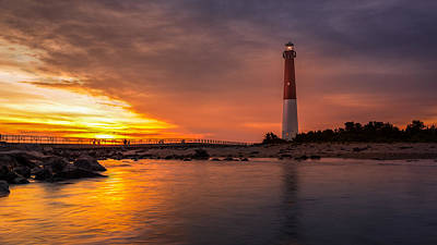 Barnegat Sunset Light Art Print