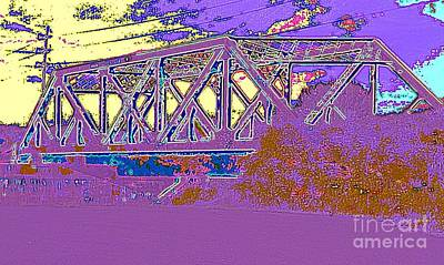 Barnes Ave Erie Canal Bridge Art Print