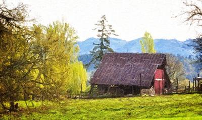 Shed Digital Art - Barns In The Past by Image Takers Photography LLC - Laura Morgan