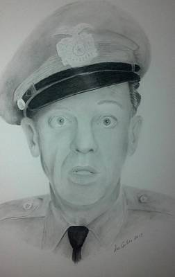 Don Knotts Drawing - Barney Fife by Don Cartier