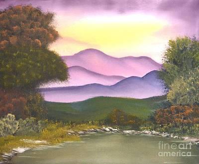 Bob Ross Painting - Barney by John Kemp