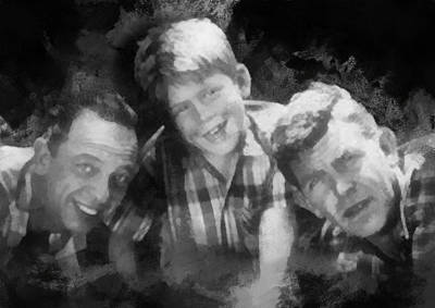 Barney Opie And Andy Print by Paulette B Wright